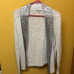 Gray and silver cardigan